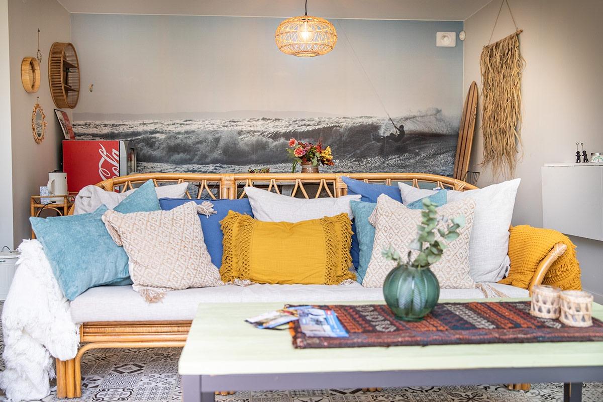 Allrummet på Villa Surf Garden ger dig den där riktiga surfkänslan!